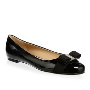 Salvatore Ferragamo Varina Leather Ballet Flats
